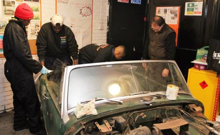 working on the mg midget